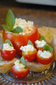 cheese stuffed tomato