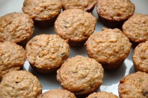 carrot banana bran muffins!
