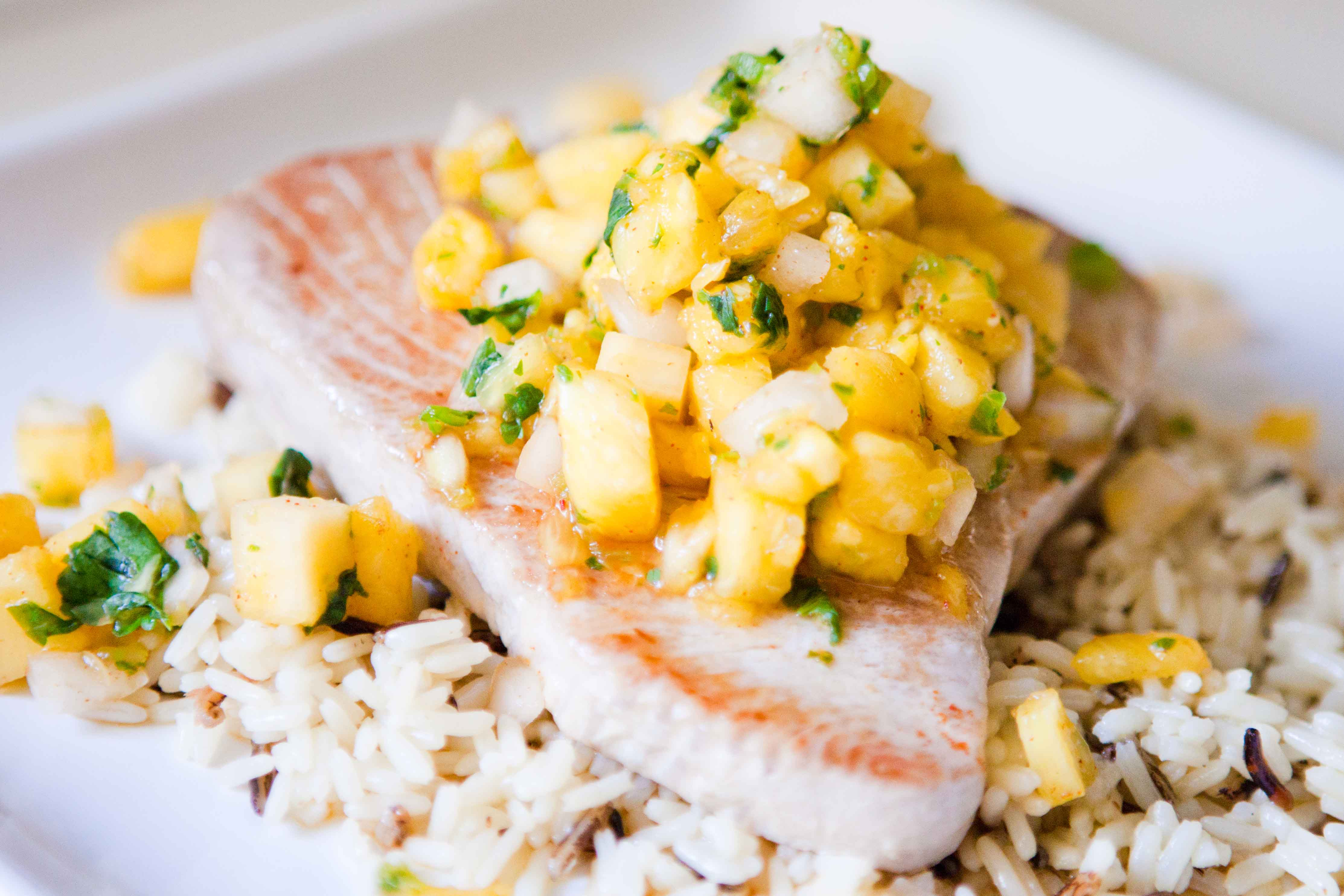 Pineapple Salsa with Grilled Tuna | Teacher by Day - Chef ...
